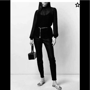Eileen Fisher Black Denim Sheen Jeans Jeggings S